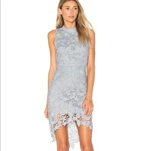 ASTR the label Dusty Blue lace dress